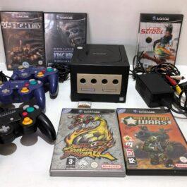 Konsola Nintendo GameCube + 3 pady + 5 gier +karta